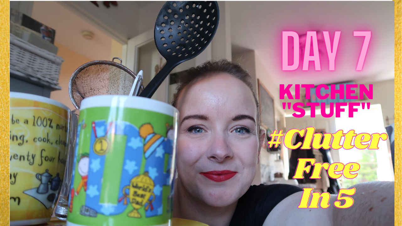 Day 7 of the #ClutterFreeIn5 Challenge | Kitchen Stuff